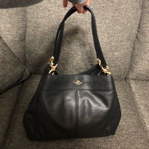 💋Coach Black Pebbled Leather Purse Style F27593💋